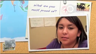 What are you most proud of? Teen girl speaking
